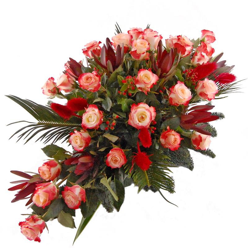 Wiązanka pogrzebowa – Pamięć w sercach Kwiaty na pogrzeb